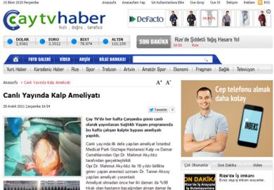 Çay Tv / Canlı Yayında Kalp Ameliyatı (28.12.2011)