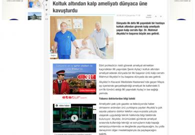 CNNTurk.com / Koltuk altından kalp ameliyatı dünyaca üne kavuşturdu (25.06.2014)