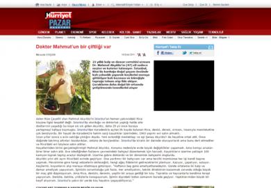 Hürriyet Gazetesi / Doktor Mahmut'un bir çiftliği var (18.09.2011)