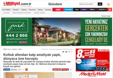 Milliyet Gazetesi / Koltuk altından kalp ameliyatı yaptı, dünyaca üne kavuştu (25.06.2014)