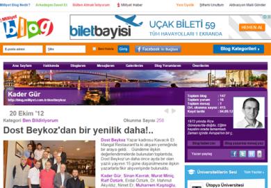 Milliyet Blog / Dost Beykoz'dan Bir Yenilik Daha (21.10.2012)