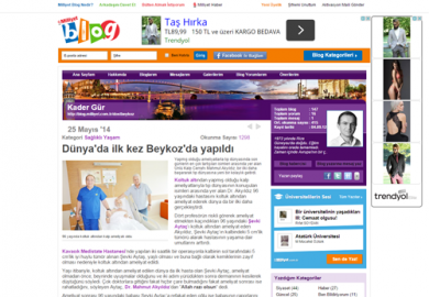 Milliyet Blog / Dünya'da ilk kez Beykoz'da yapıldı (26.05.2014)