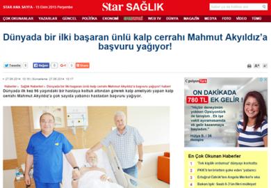 Star Sağlık/ Dünyada bir ilki başaran ünlü kalp cerrahı Mahmut Akyıldız'a başvuru yağıyor! (27.06.2014)