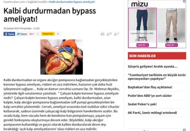 Kalbi durdurmadan bypass ameliyatı! (26.02.2015)