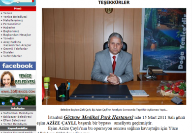 Karabukyenice.bel.tr / Yenice Belediye Başkanı Zeki Çaylı'dan Teşekkürler (01.04.2011)