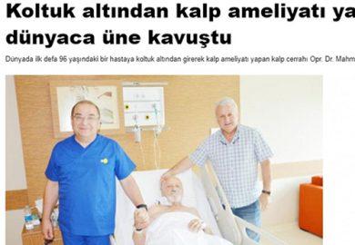 Koltuk altından kalp ameliyatı yaptı, dünyaca üne kavuştu