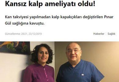 Kansız kalp ameliyatı oldu!